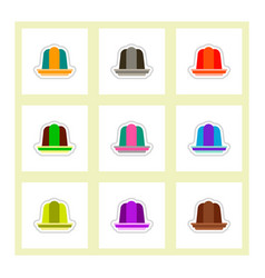 label icon on design sticker collection jelly vector image