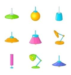 Lamp icons set cartoon style vector