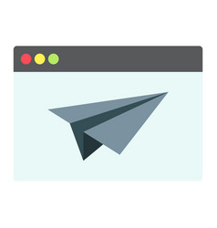 Landing page flat icon seo and development vector
