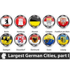 largest german cities vector image