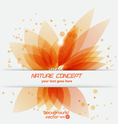 leaf concept vector image vector image