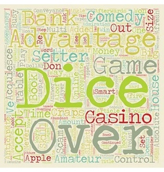 Learn to Comedy Craps Tips and Strategies text vector image