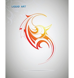 Liquid art fire flame vector image vector image