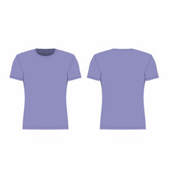 Mens purple t shirt vector