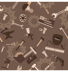 Metal work tools background Seamless pattern vector image