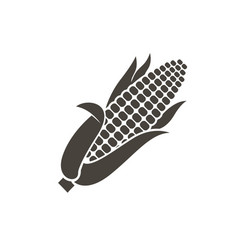 Monochrome corn icon vector