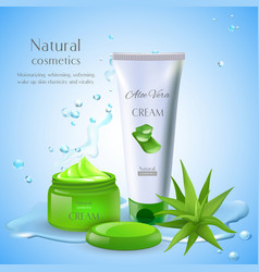 natural aloe cream background vector image