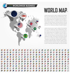 perspective world map and gps vector image