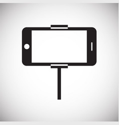 Phone shooting icon on white background for vector