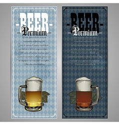 Premium beer menu design vector