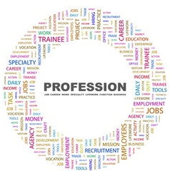 PROFESSION vector image