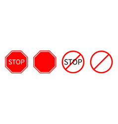 prohibition no symbol red round stop warning road vector image
