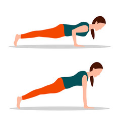 push ups position yoga vector image