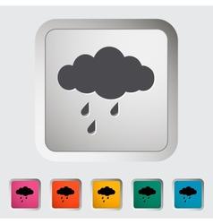 Rain sign vector