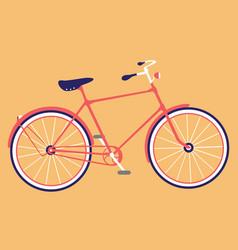 retro bicycle flat design bike icon vector image