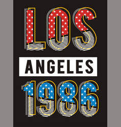 retro los angeles vector image
