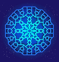 sacral geometry 3d design mandala arabesque vector image