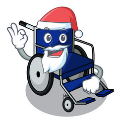 santa miniature wheelchair the shape of mascot vector image