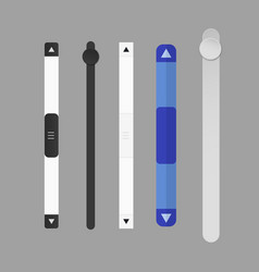 Scroll bars vector