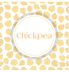 seamless pattern chickpeabengal gram chick peas vector image