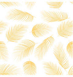seamless pattern with palm leaves background vector image