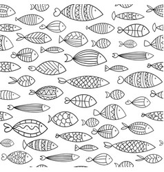 seamless texture with stylized fishes printing vector image