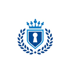 Secure shield law tax emblem logo vector
