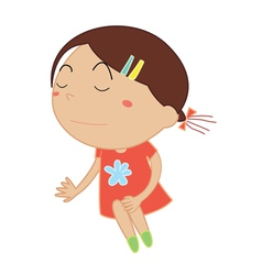 Simple child cartoon vector image