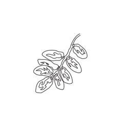 single continuous line drawing stack healthy vector image