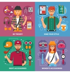 Stylish People Concept vector image