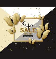 Super sale banner background template with vector