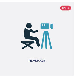 Two color filmmaker icon from people skills vector