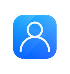 user glossy flat icon man symbol vector image