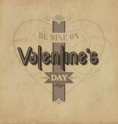 Vintage Valentines Template vector image