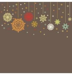 xmas card background eps 8 vector image