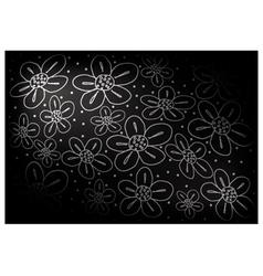 Black Vintage Wallpaper with Flower Pattern vector image vector image