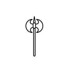 old axe icon vector image