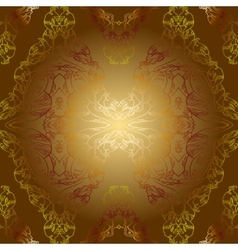 sepia golden vintage background pattern vector image