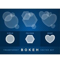 Set of transparent bokeh vector