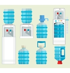 icons of water cooler appliance vector image