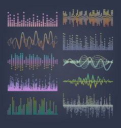 music sound waves classic sound wave from vector image