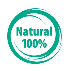 natural sign of quality vector image