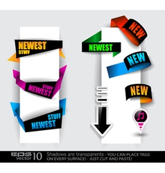 paper tag collection vector image