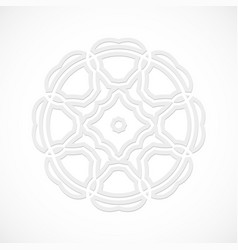 round modern white pattern simulated by a laser vector image