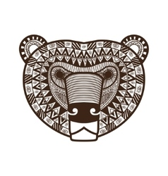 stylized Bear face vector image vector image