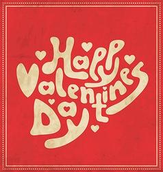 Typographic valentines template vector