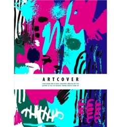 Artistic poster card with text space hand vector