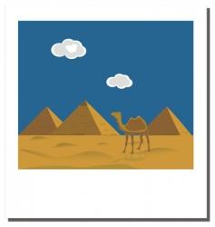 Egyptian Pyramids photo vector image vector image