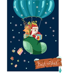 Funny Color Christmas background with hot air vector image vector image