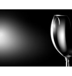 Glass of wine on dark vector image